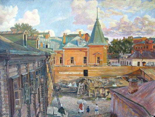 "Klimentov M. I. ""In the Pipe Yard ."""