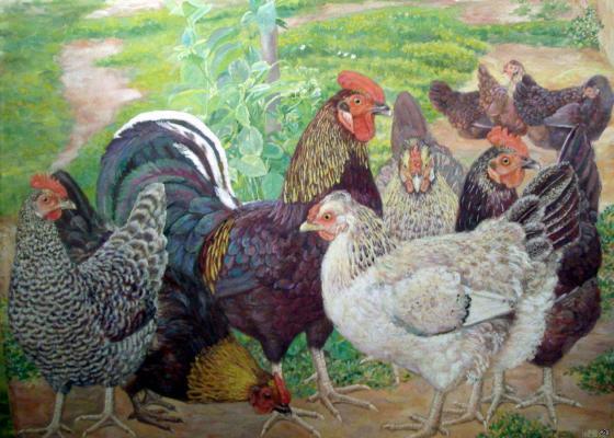 "Klimentov M. I. ""Chickens ."""