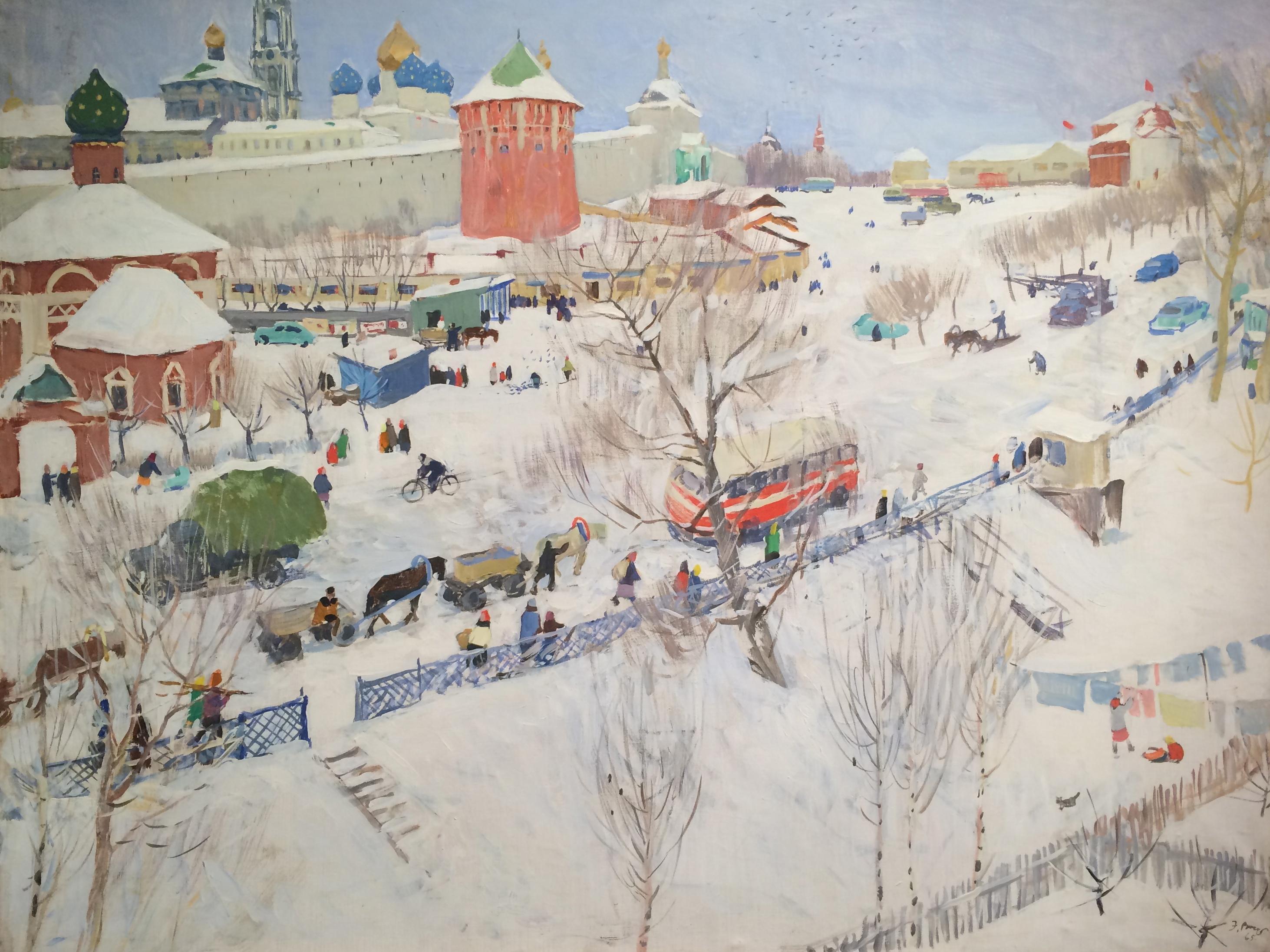 Выржиковский Эдвард Яковлевич. Зима в Загорске.