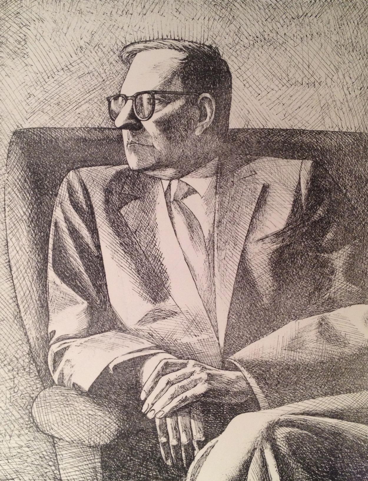 Бачурин Евгений Владимирович. Портрет композитора Дмитрия Шостаковича.
