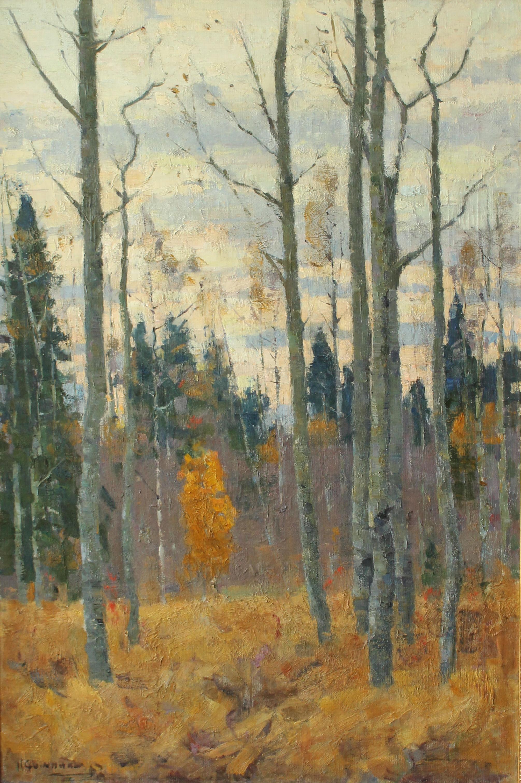Сошников Иван Сергеевич. Закат в лесу.