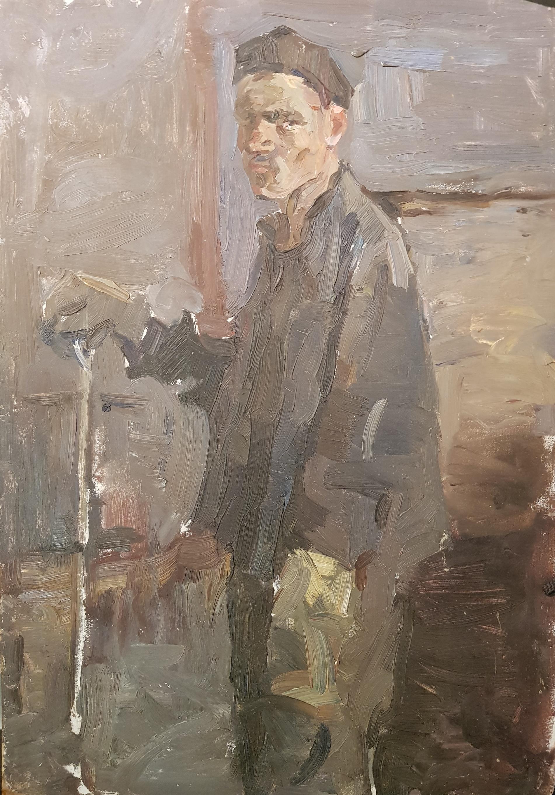 Саханов Александр Иванович. Рабочий в цеху