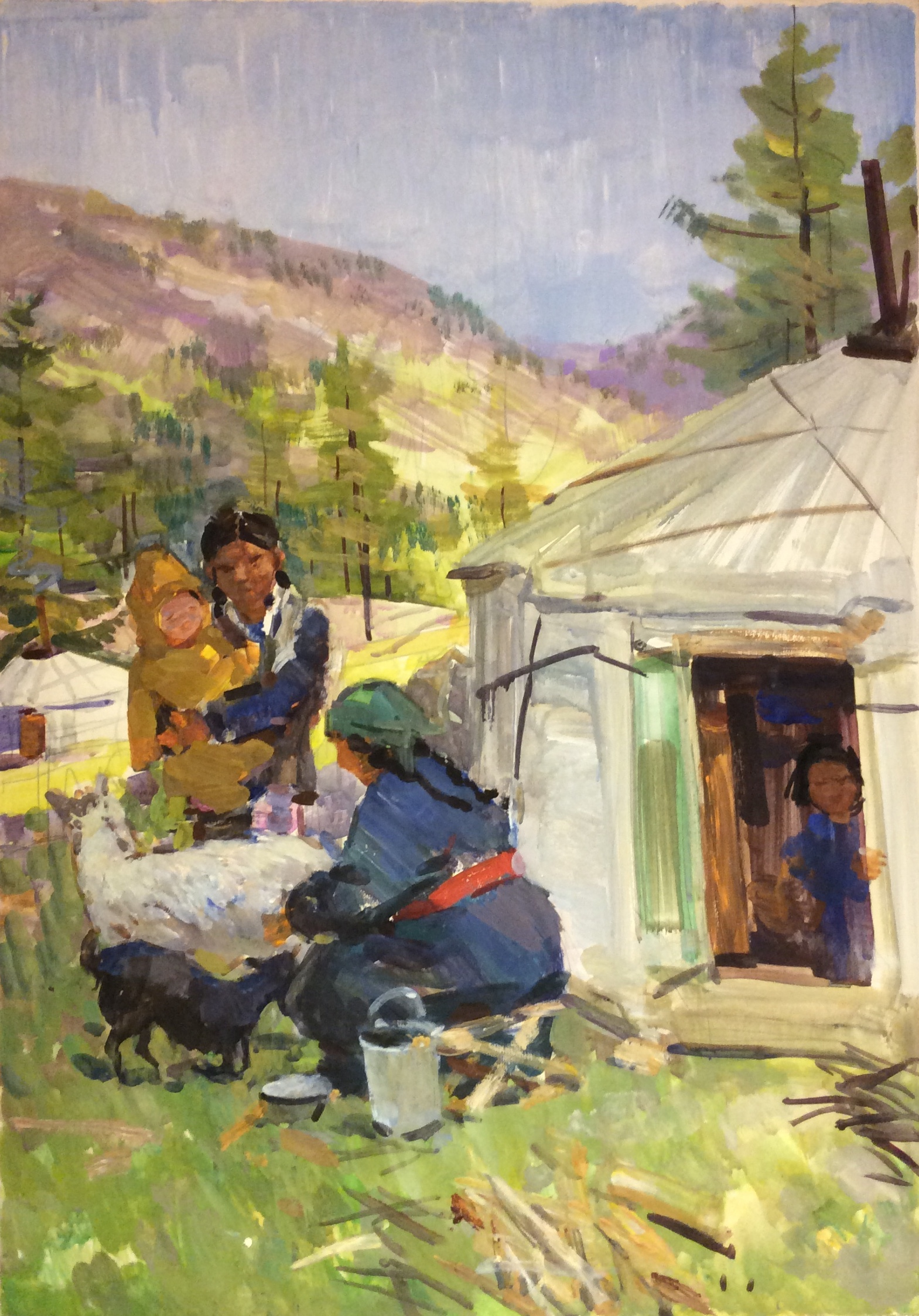 Саханов Александр Иванович. У юрты