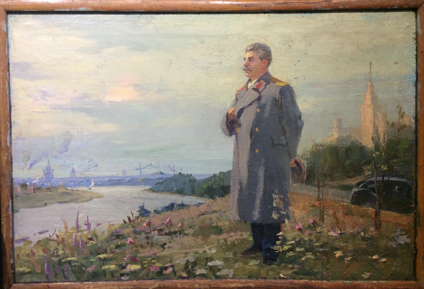Саханов Александр Иванович. Сталин