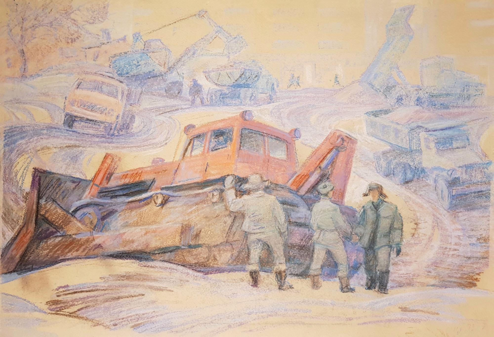 Щербинин Виктор Владимирович. Стройка