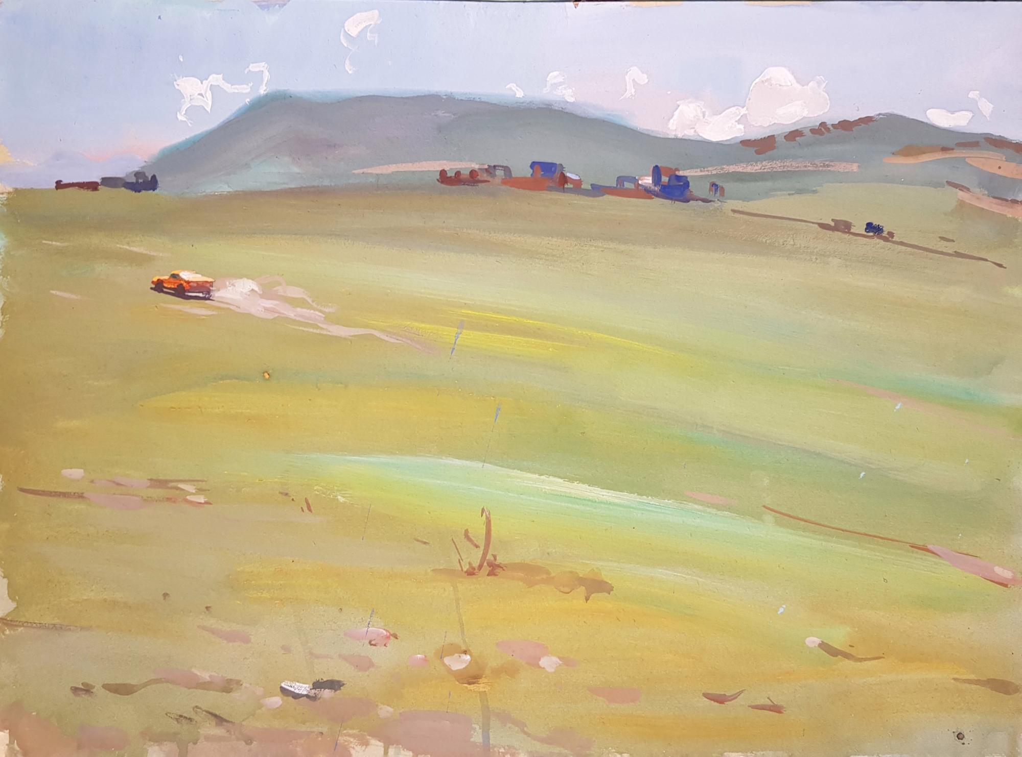 Щербинин Виктор Владимирович. Машина в поле