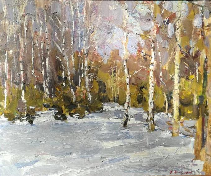 Востоков Евгений Иванович. Зима в лесу.
