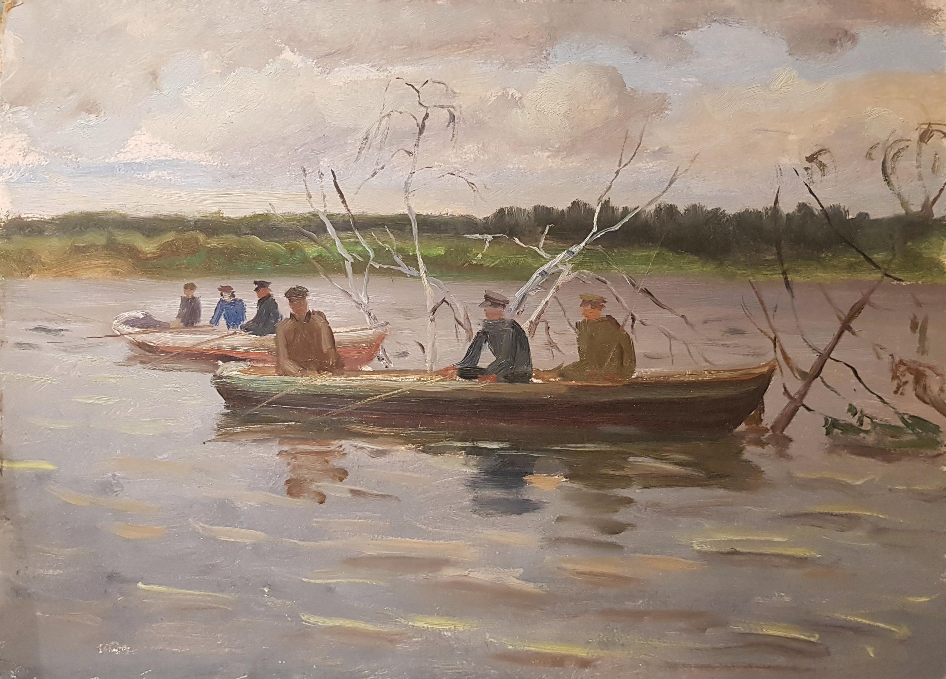 Кибардин Георгий Владимирович. В лодке