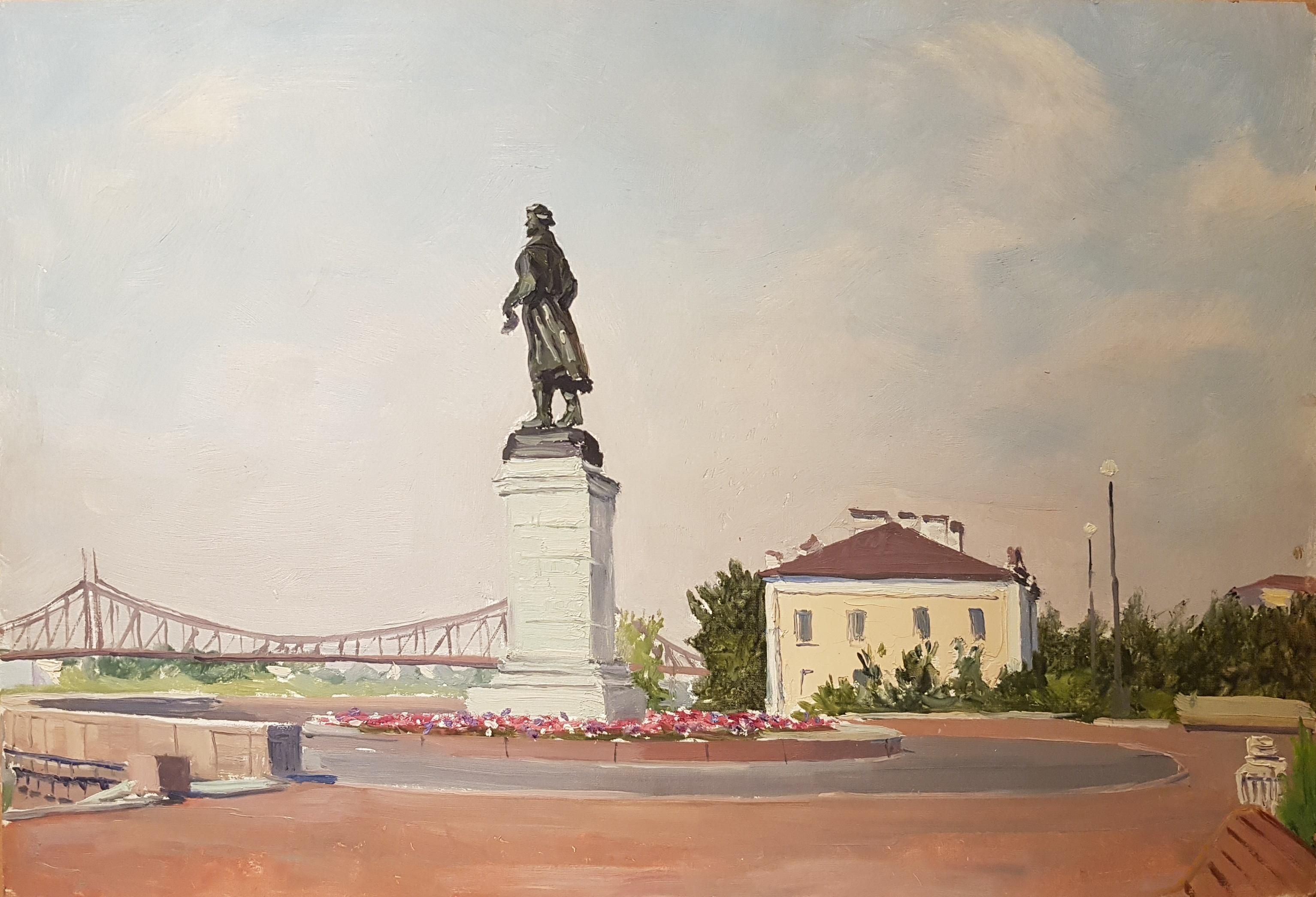 Кибардин Георгий Владимирович. Памятник на площади