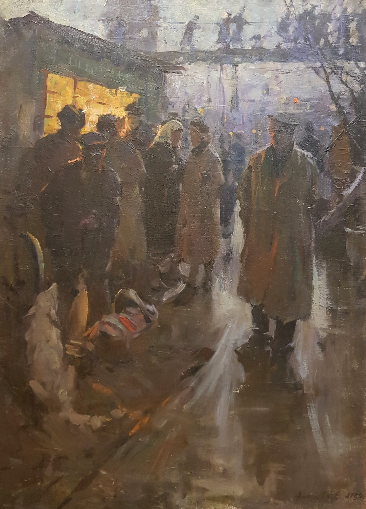 Алексеев Адольф Евгеньевич. На станции