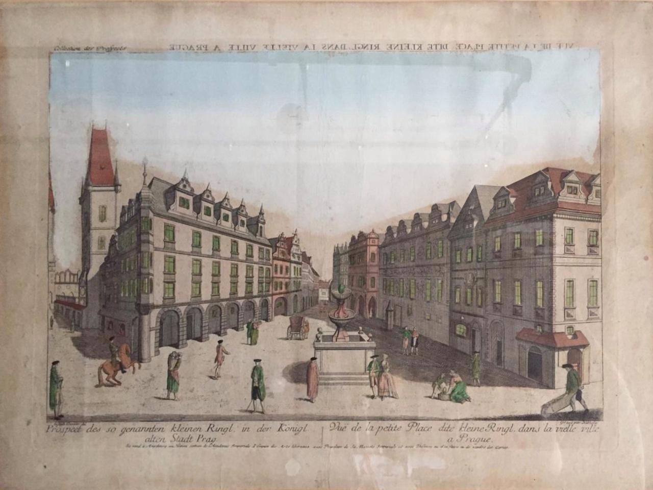 Набхольц Иоганн Кристоф. Небольшая площадь в старом городе