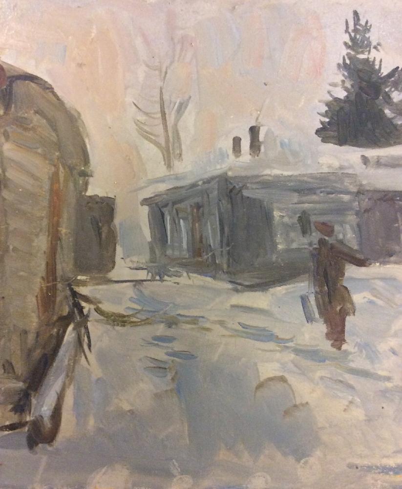 Герасимов Сергей Васильевич. Зима в деревне