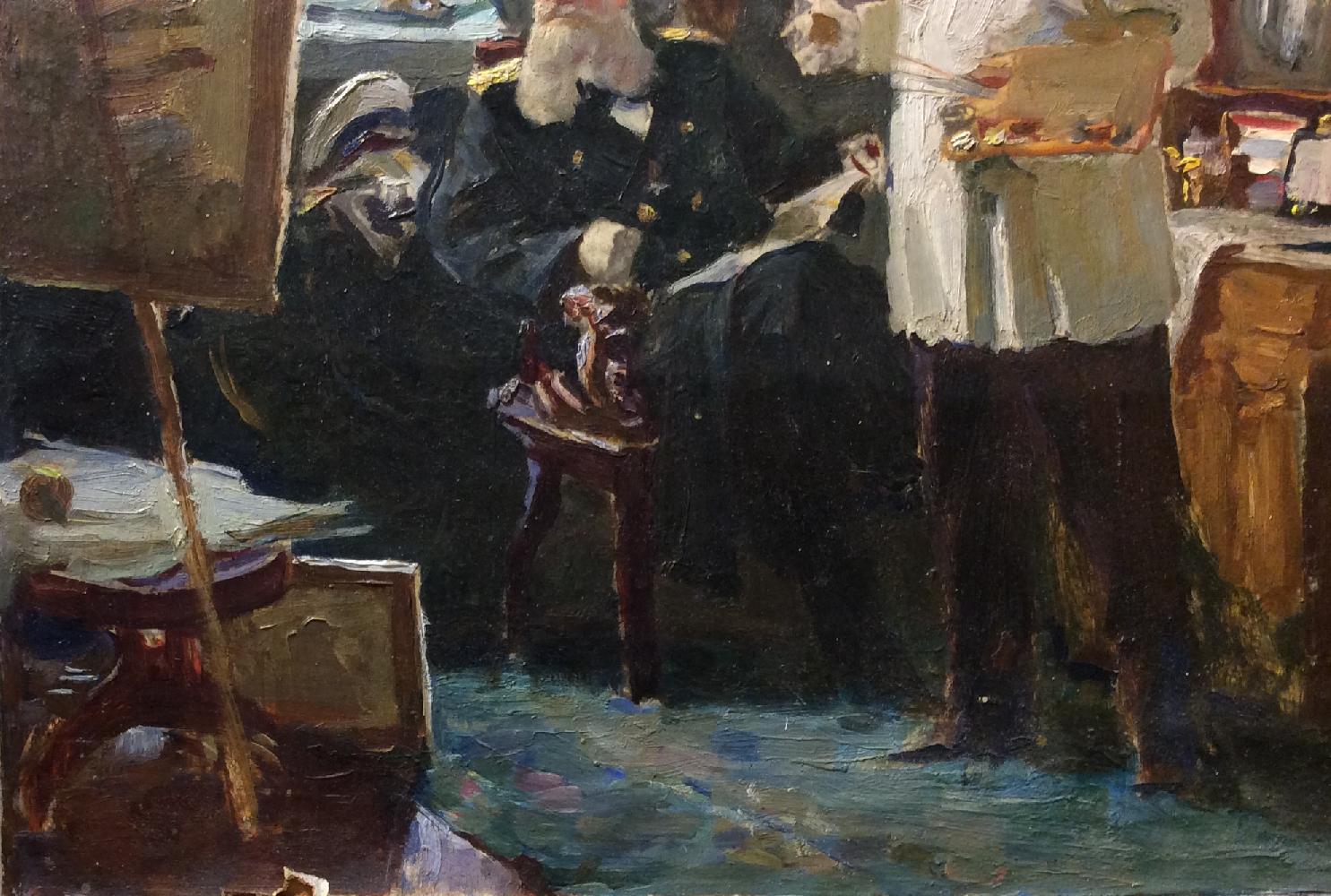 Завьялов Александр Васильевич. В мастерской у художника