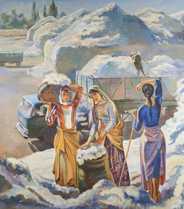 Колелишвили Гиви. Уборка хлопка