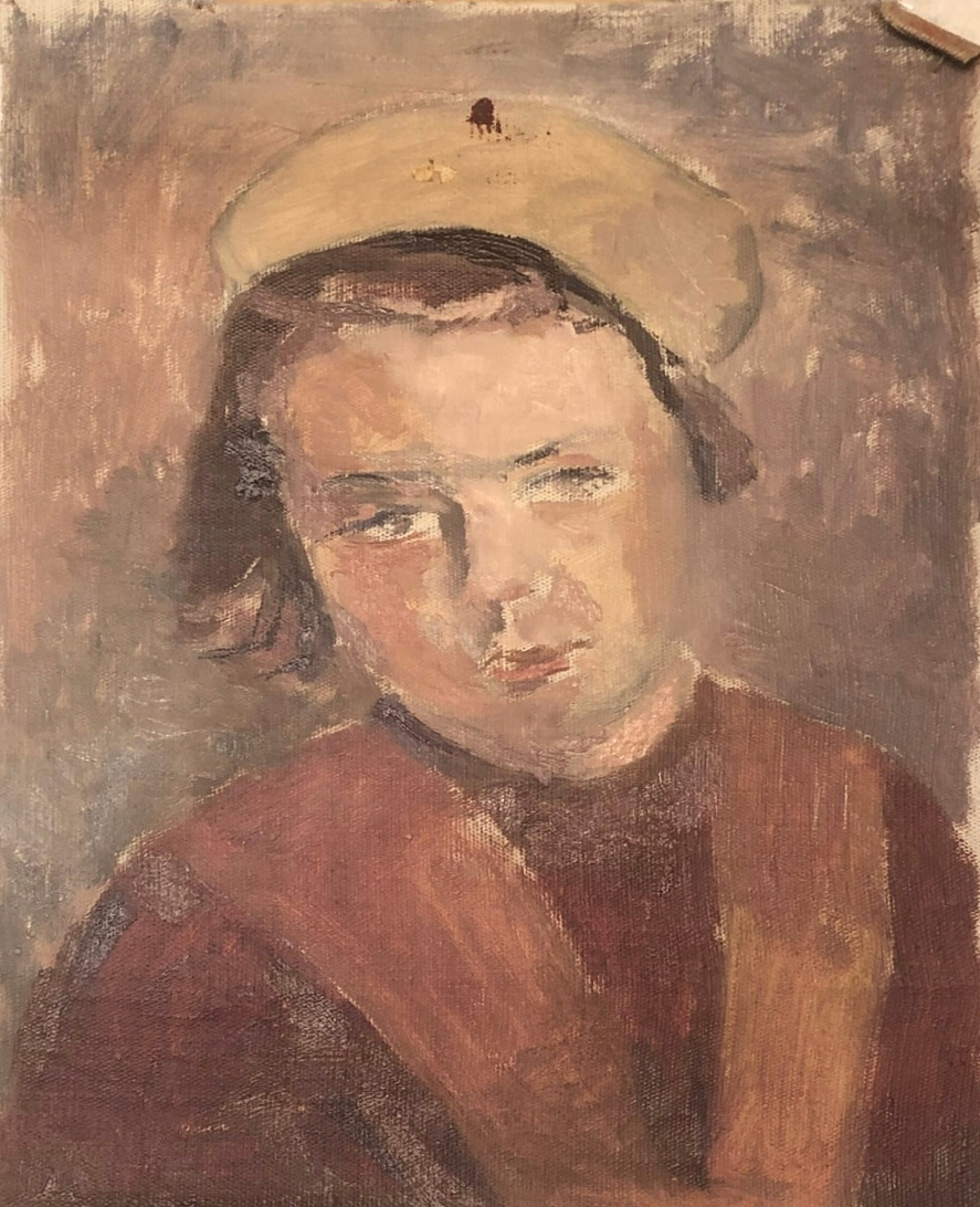 Белаковская Виктория Марковна. Портрет девочки в белом берете
