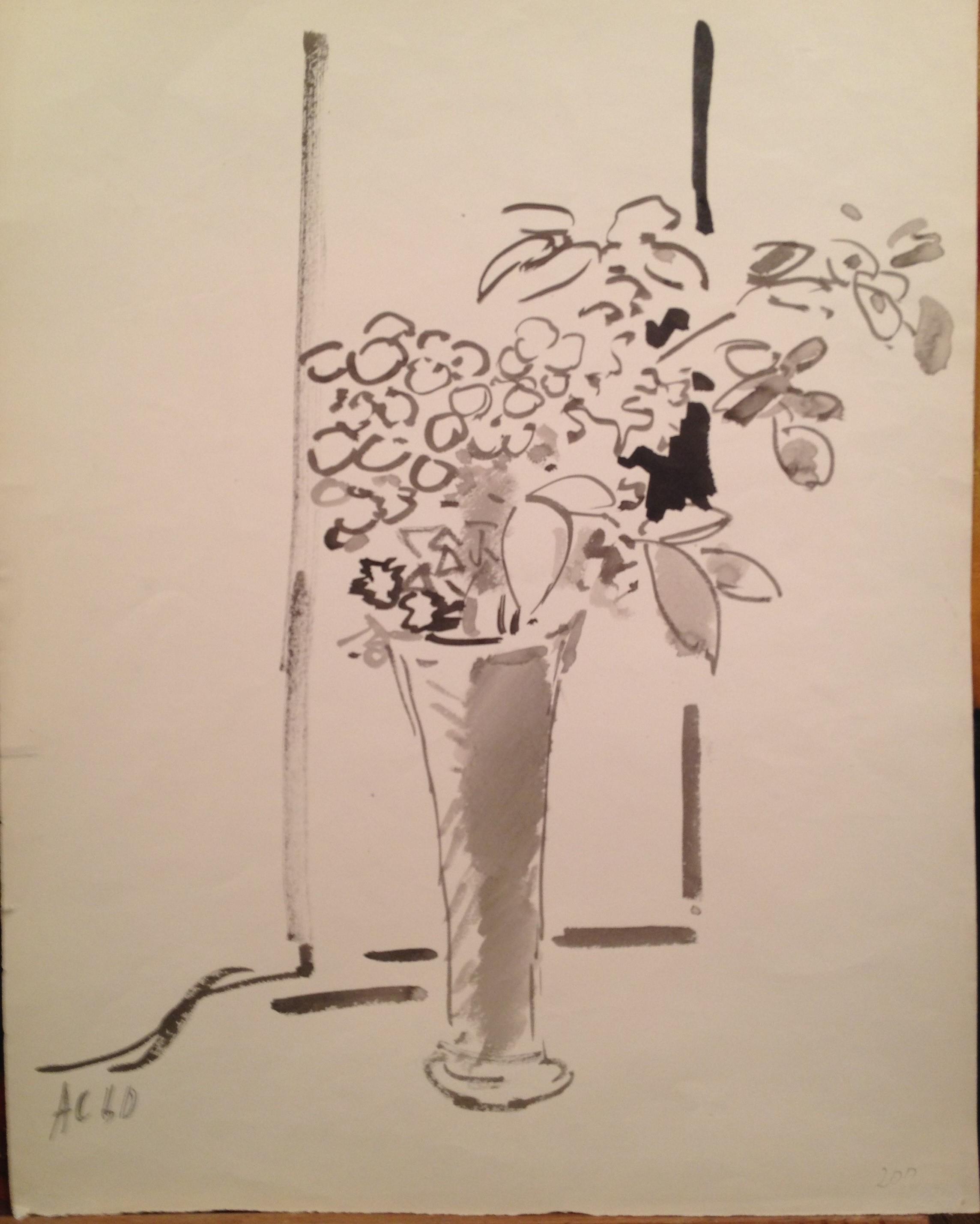 Софронова Антонина. Цветы в вазе