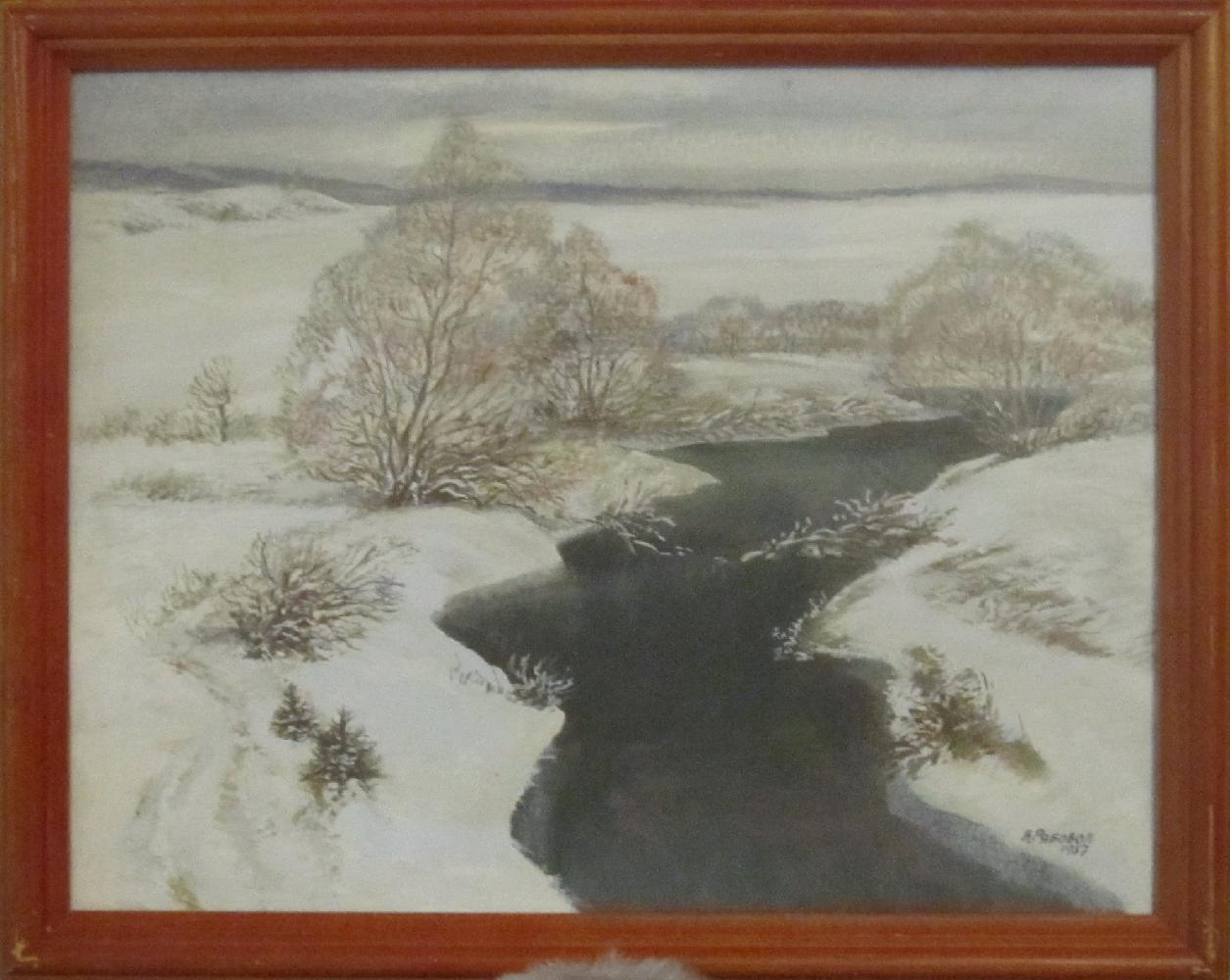 Рябовол Валерий Андреевич. Зимняя речка
