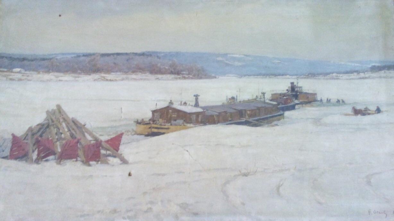 Осенев Николай Иванович. Зима на Оке