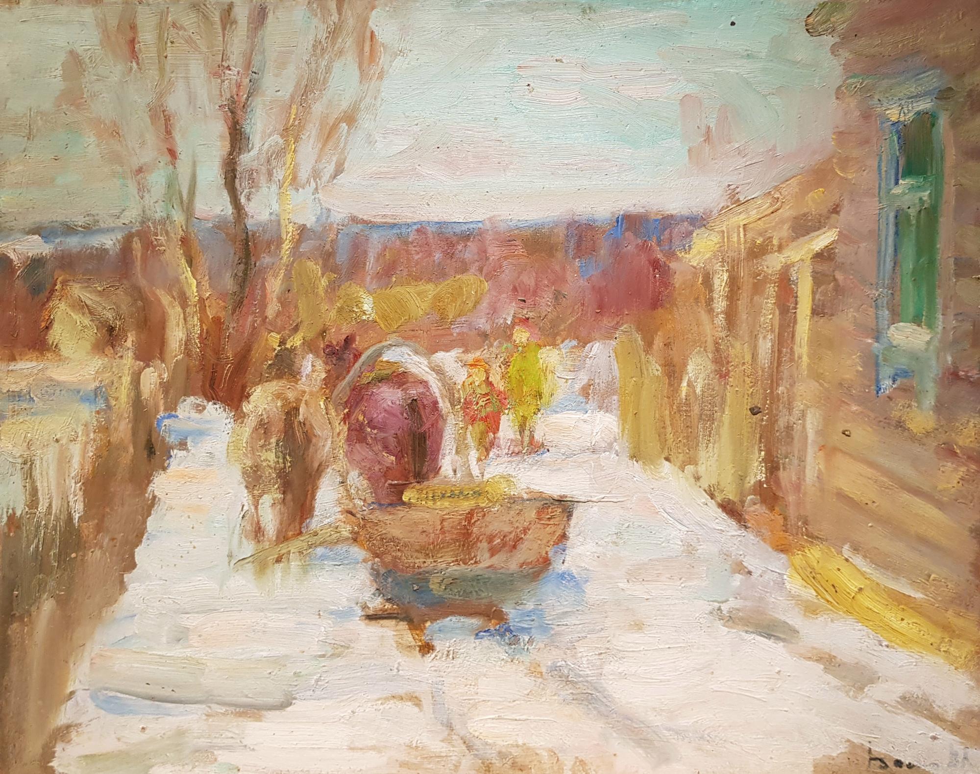 Васин Владимир Алексеевич. Зима в деревне