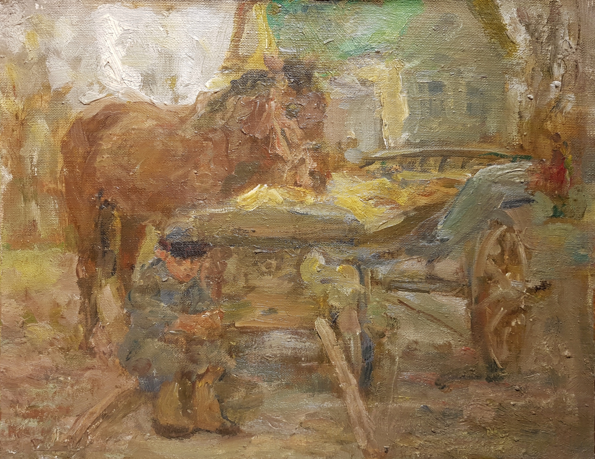 Васин Владимир Алексеевич. Мальчик с лошадью