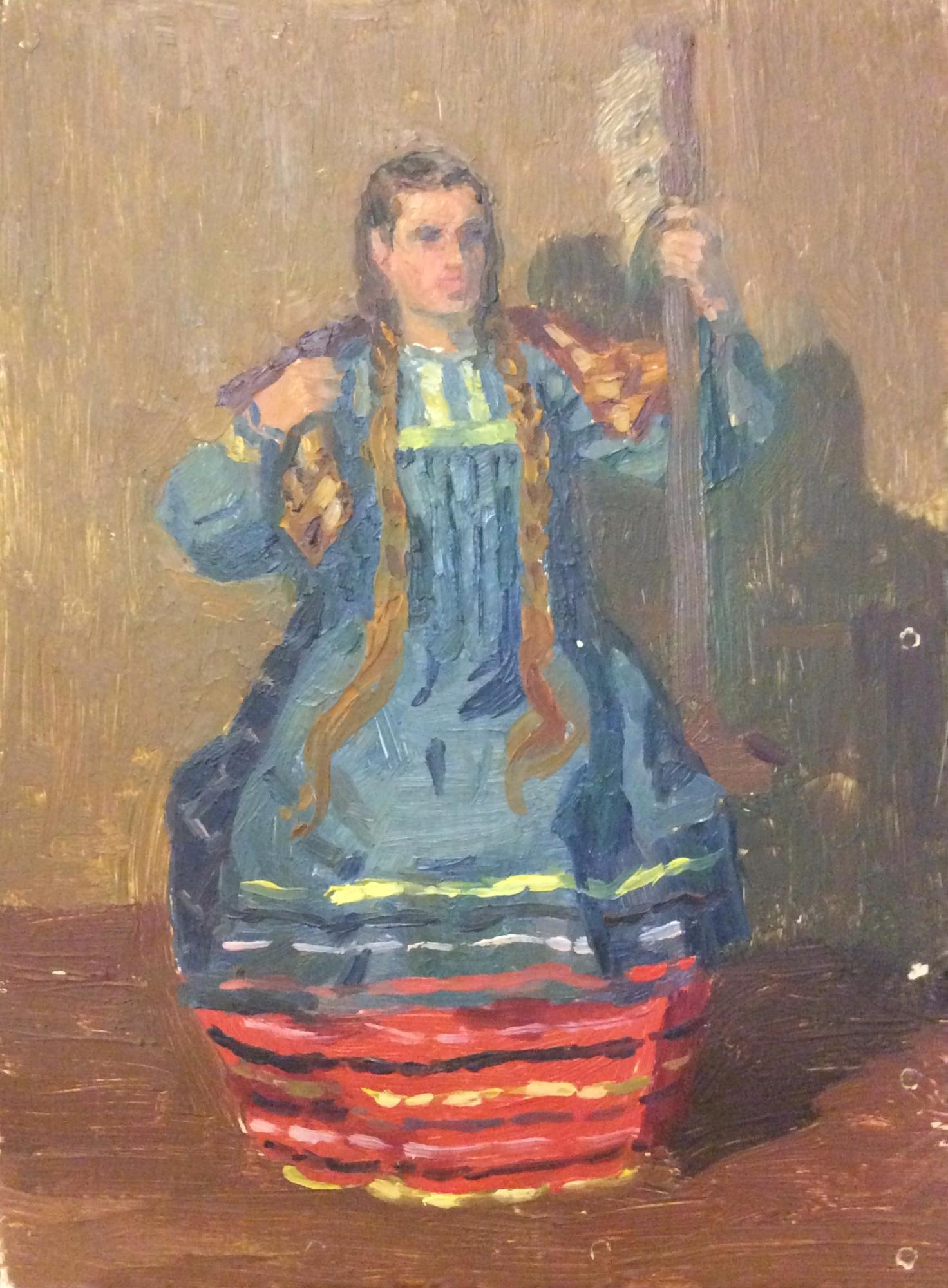 Зернова Екатерина Сергеевна. Эскиз к картине Сказка про царя Салтана