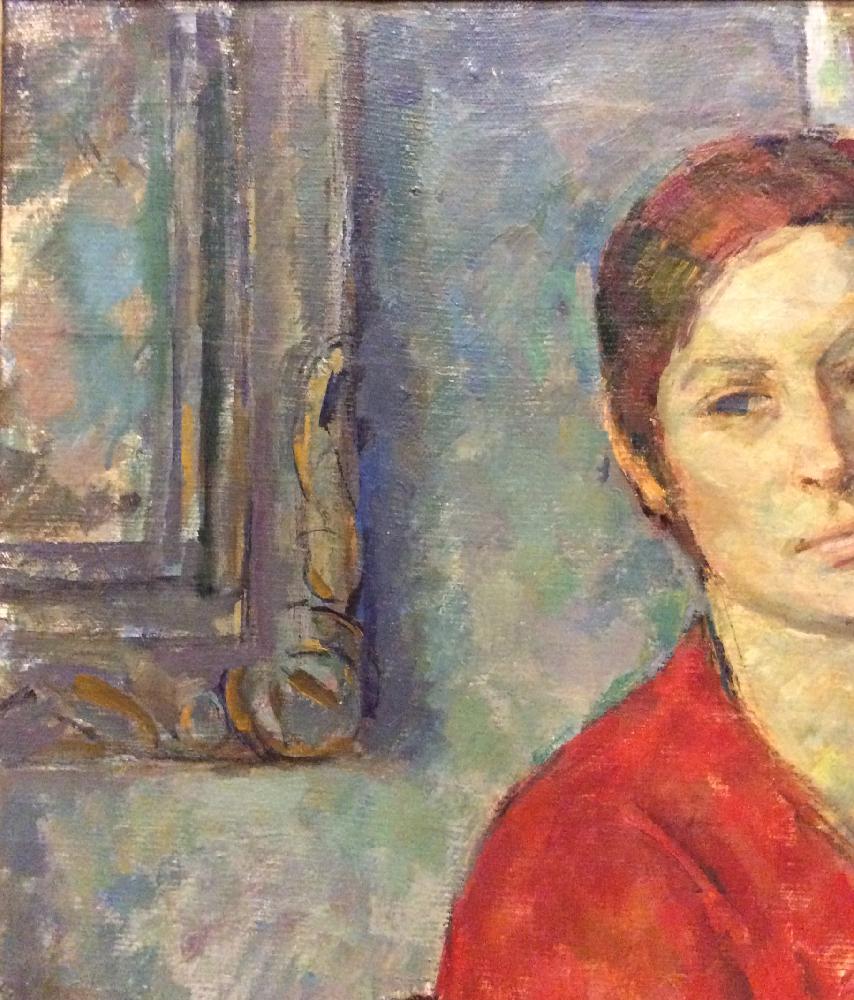 Гурвич Иосиф Михайлович. Женский портрет в красном