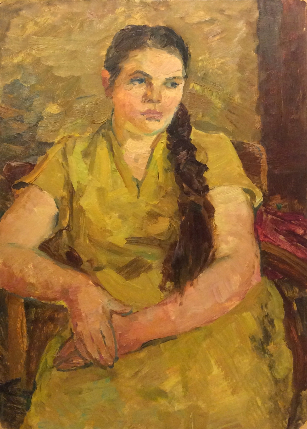 Сорокин Иван Васильевич. Девушка в жёлтом платье