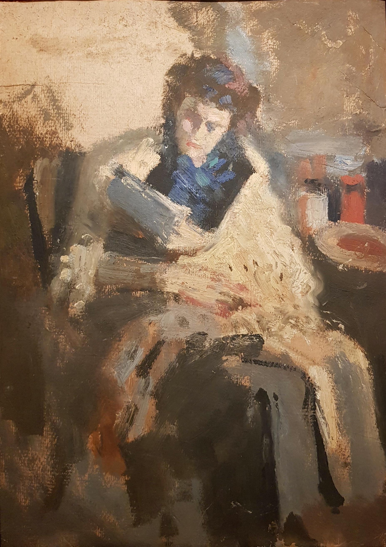 Ситников Василий Яковлевич. Портрет дамы с шалью