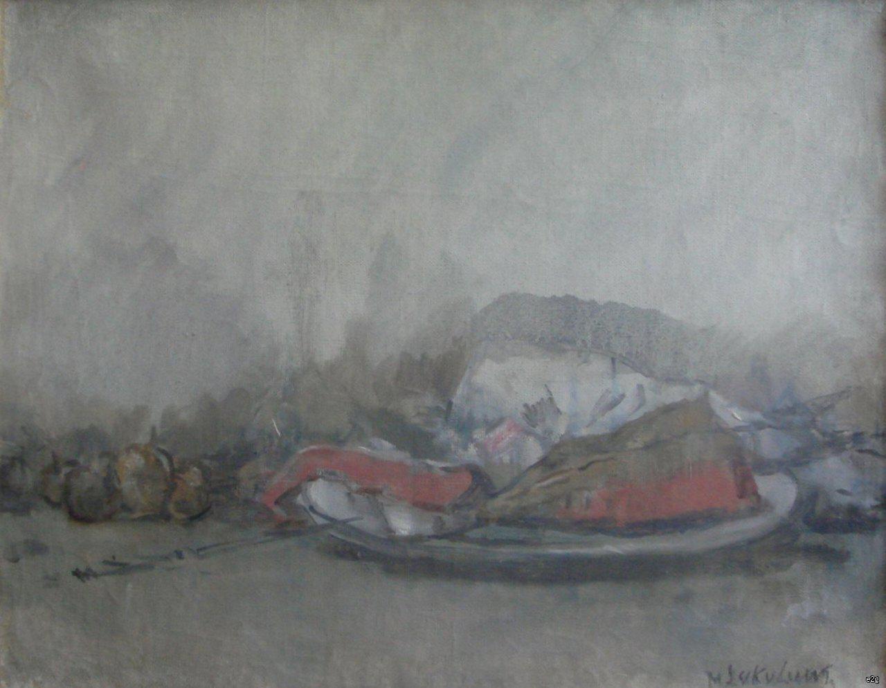 Соколов Михаил Ксенофонтович. Натюрморт с красной рыбой