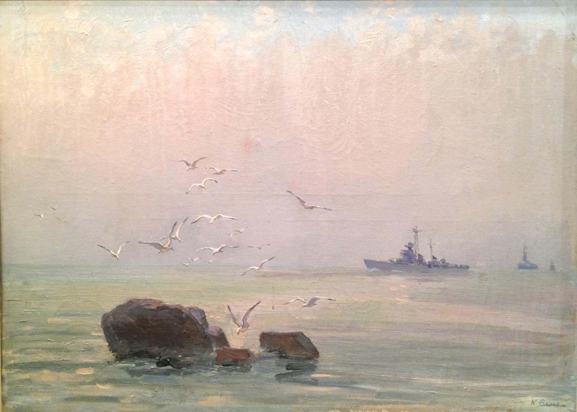 Вялов Константин Александрович. Чайки над морем.