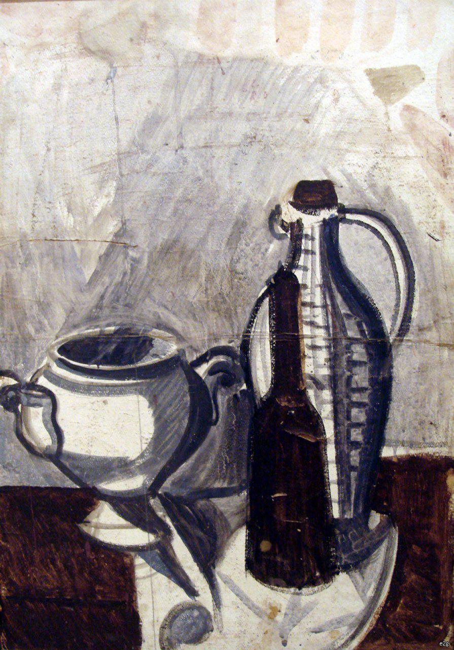 Васнецов Андрей Владимирович. Натюрморт с бутылками