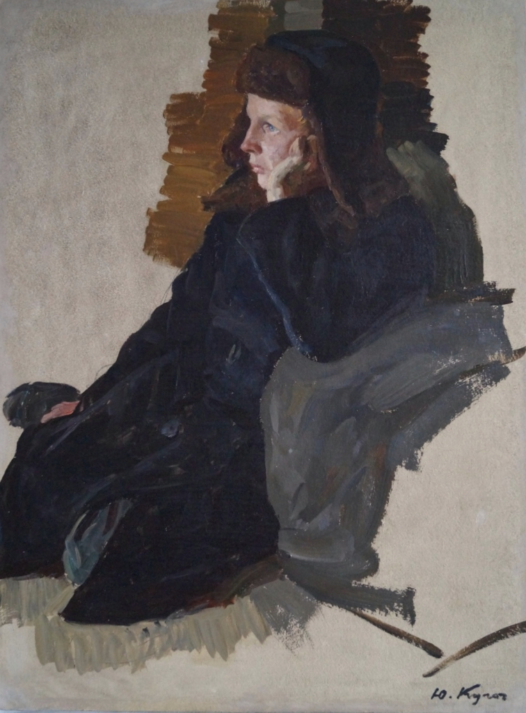 Кугач Юрий Петрович. Сидящий мальчик