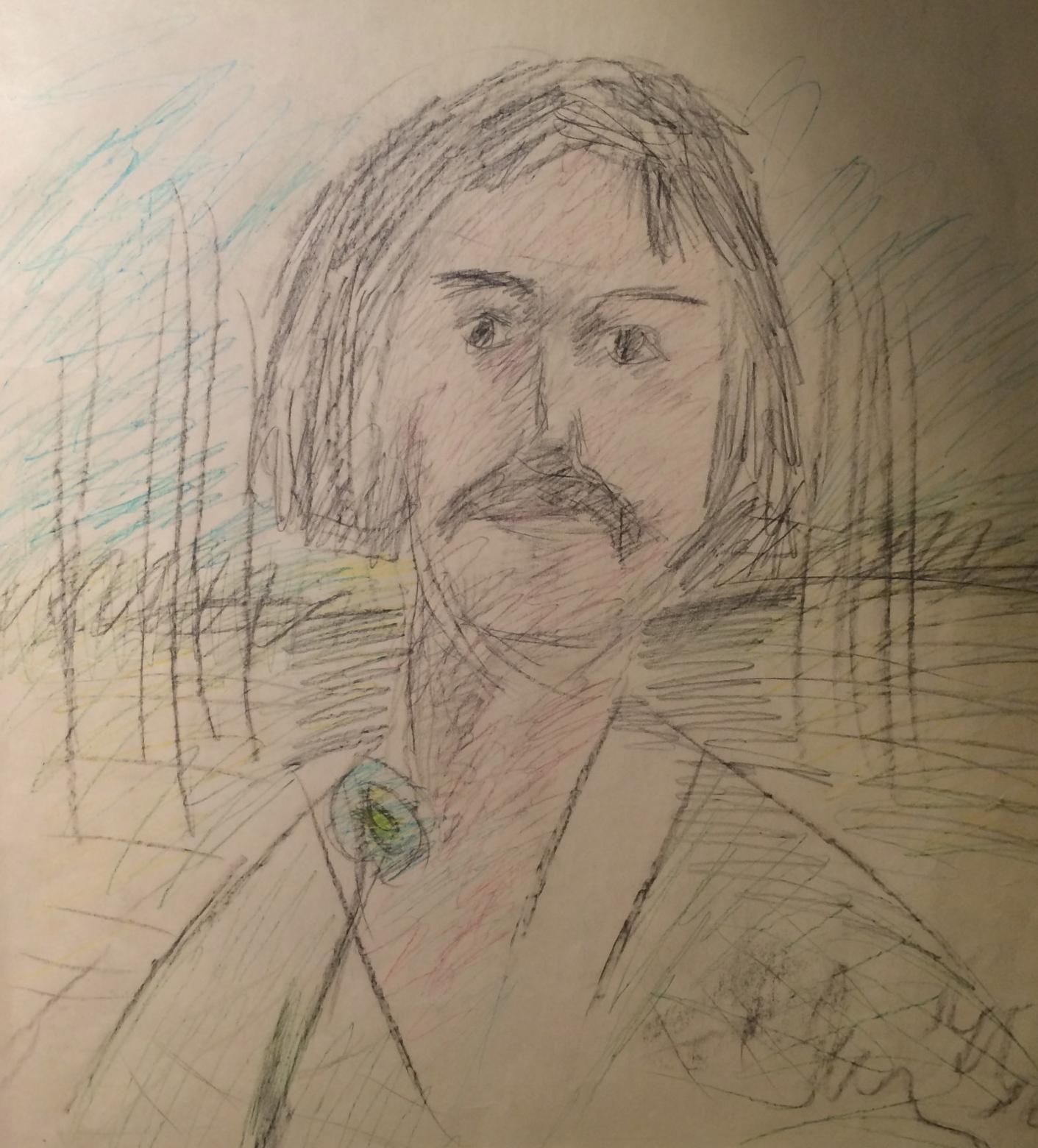 Яковлев Владимир Игоревич. Портрет Ираклия Мосешвили с цветком.