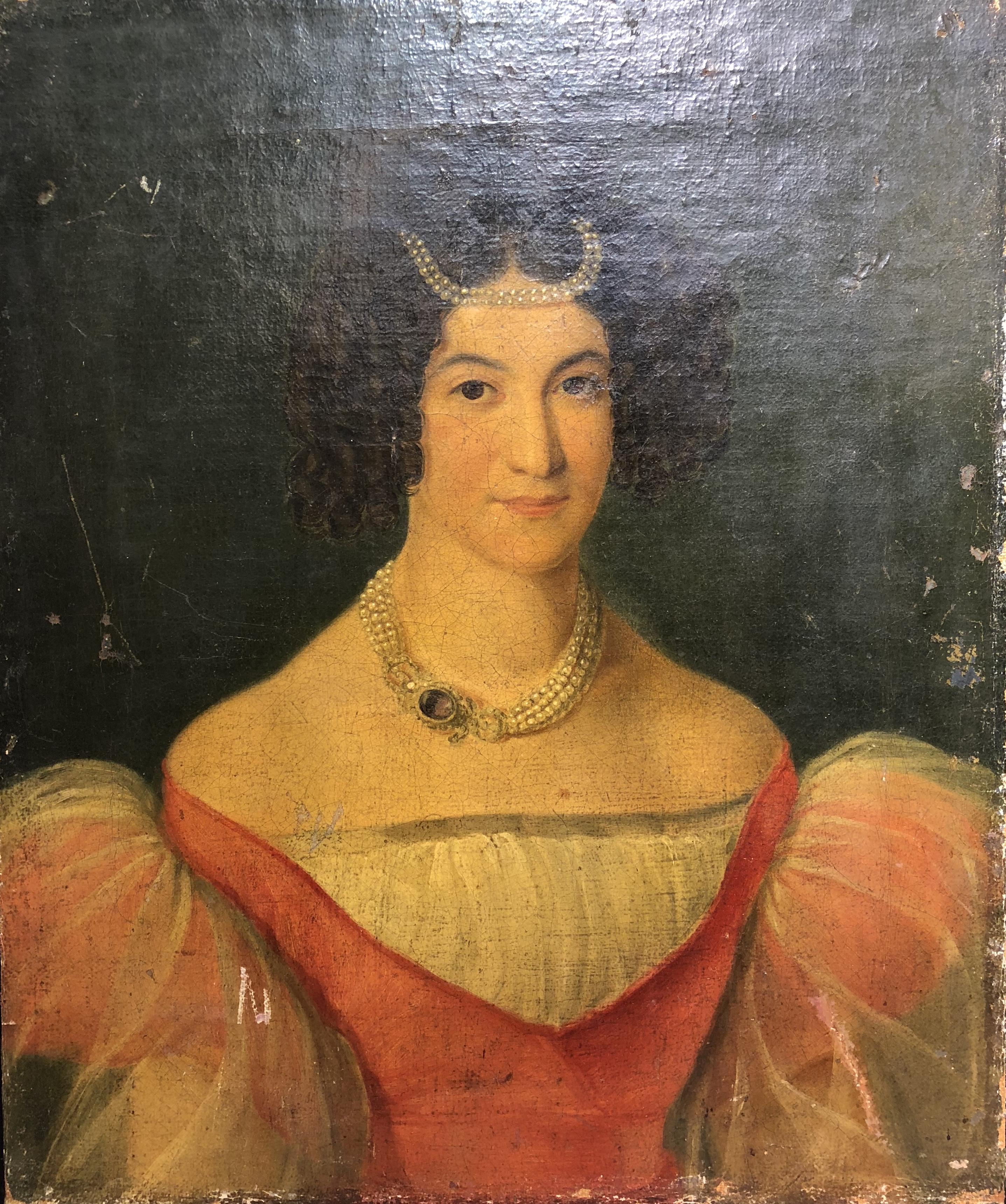 Неизвестный художник . Портрет дамы