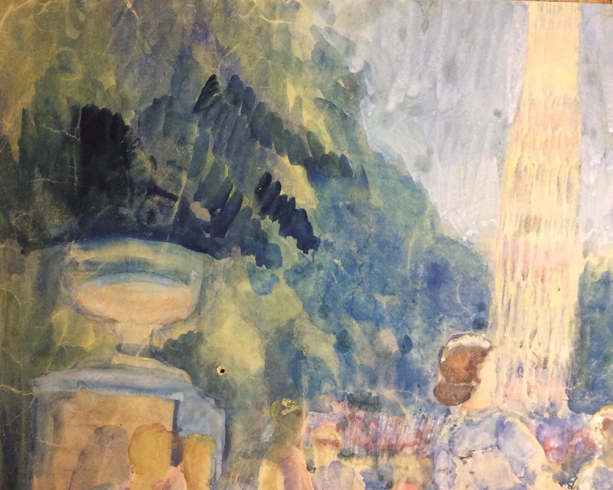 Неизвестный художник . Пионерский лагерь