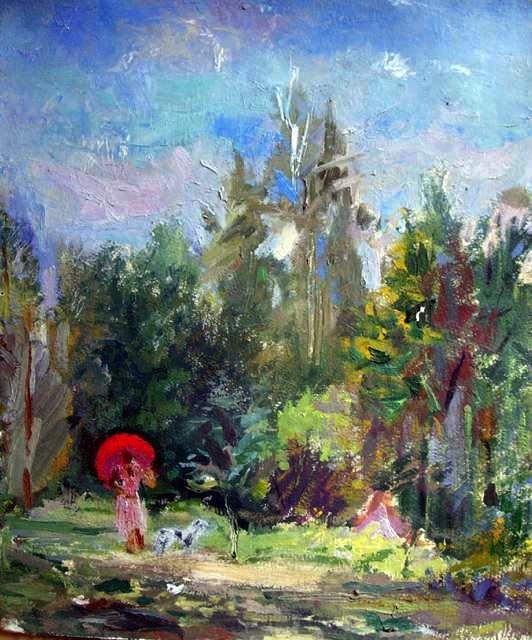 Козлов Александр Николаевич. Летом в парке