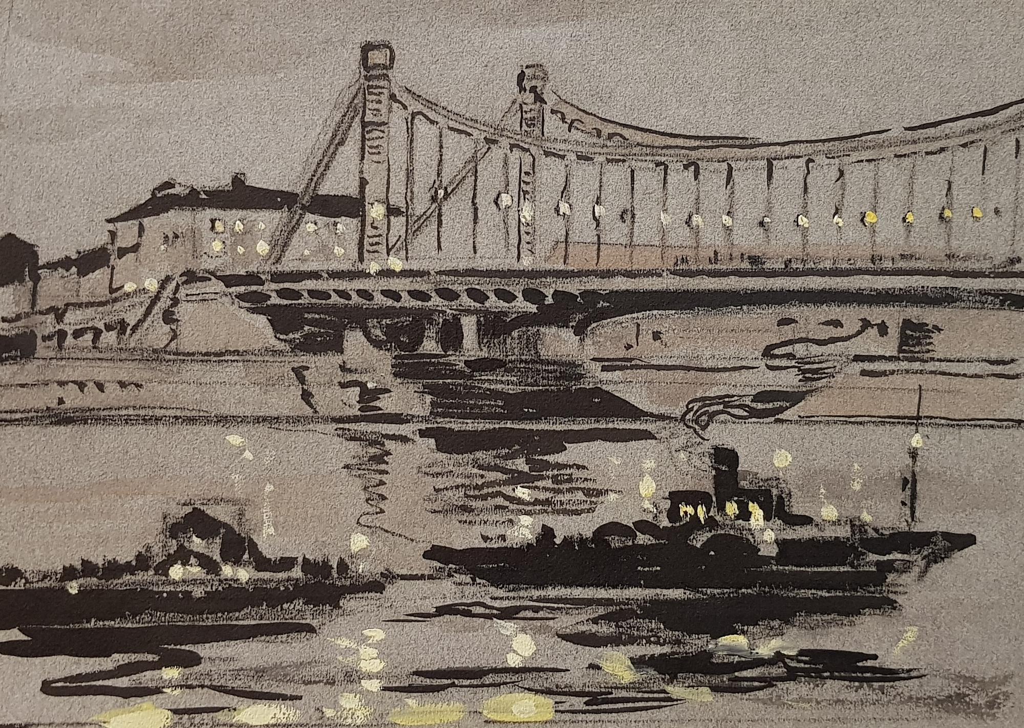 Маторин Михаил Владимирович. Вид на ночную Москву-реку