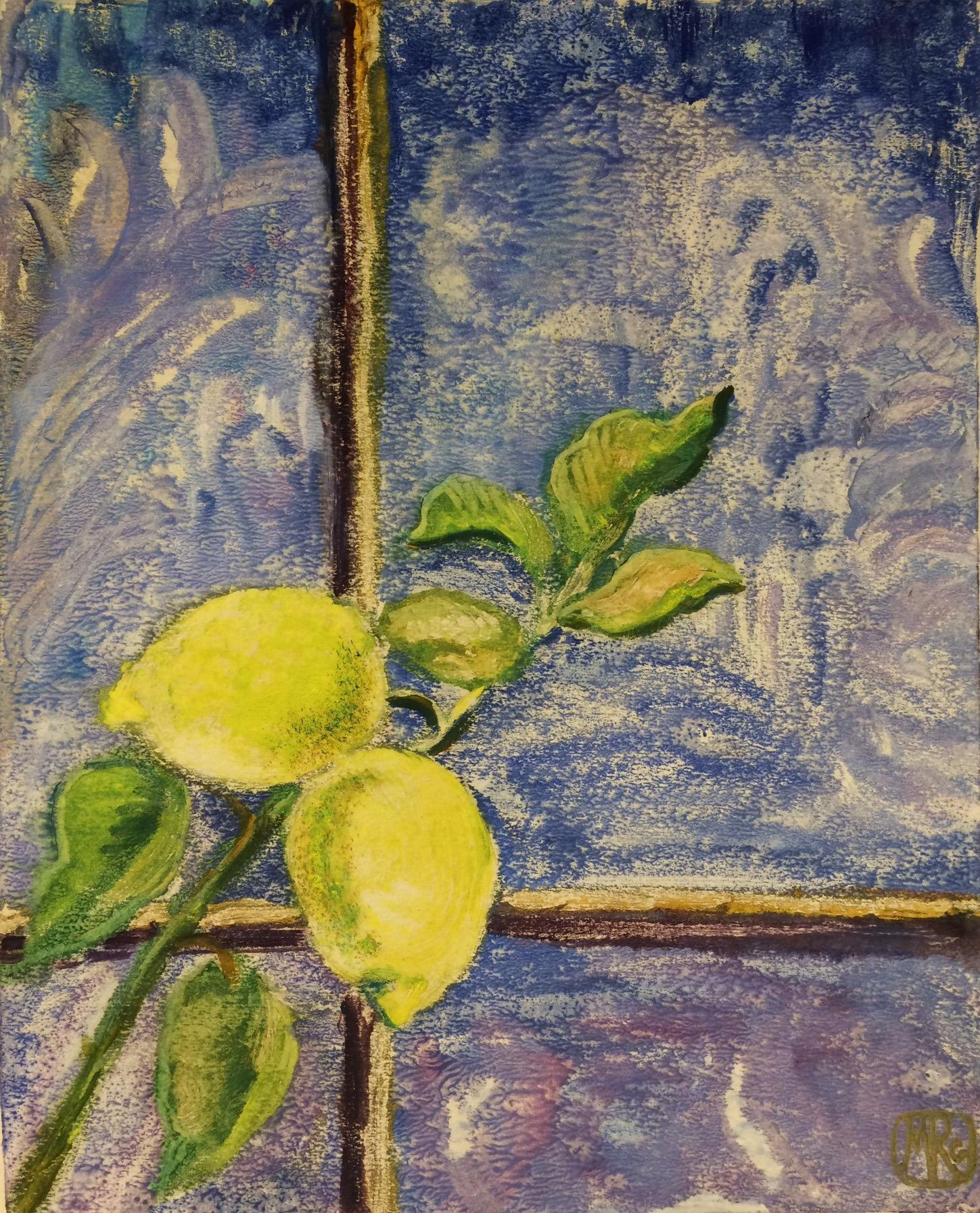 Раубе-Горчилина Мария Вячеславовна. Ветка лимона на окне.