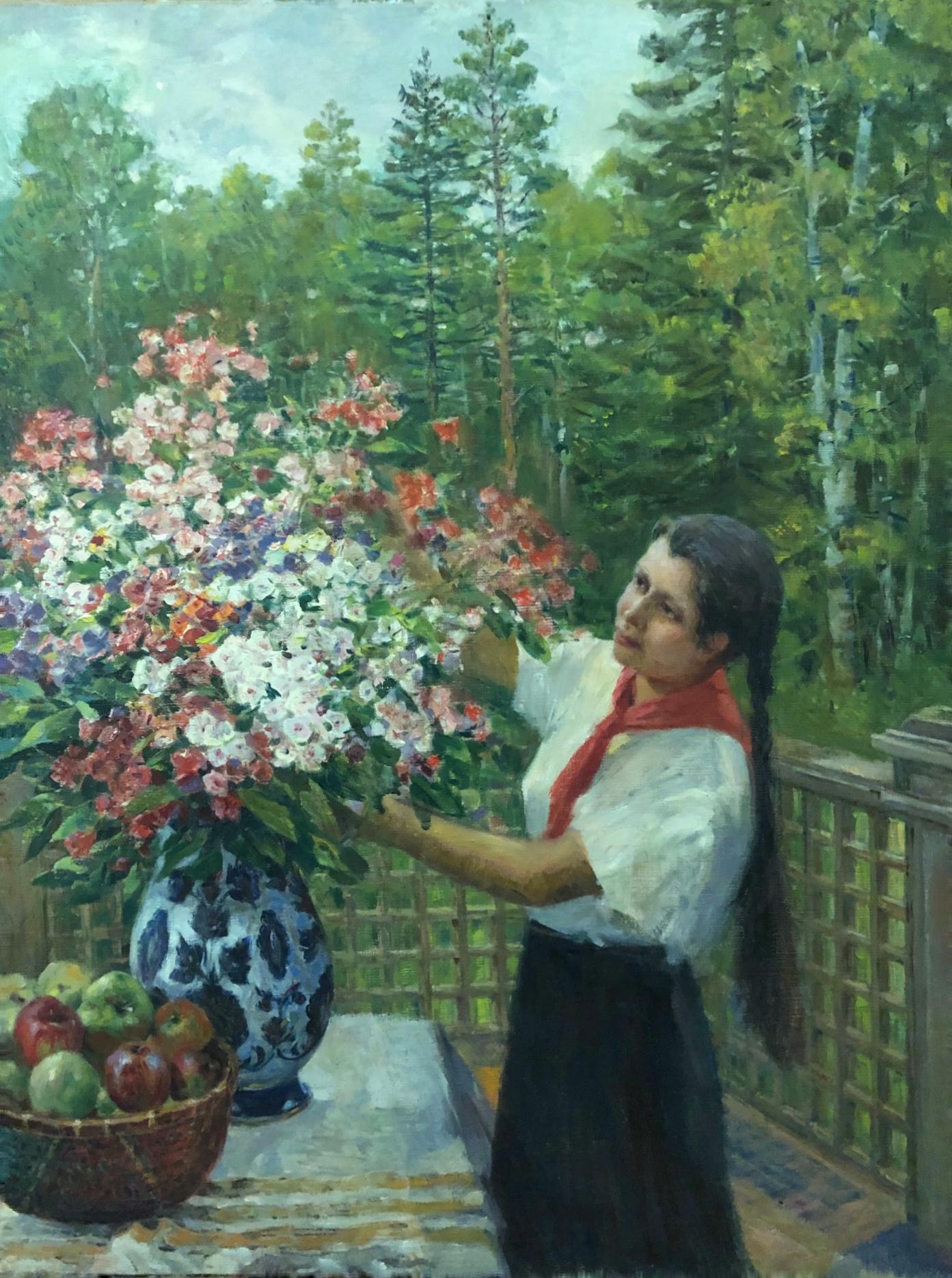 Яновская Ольга Дмитриевна. Пионерка