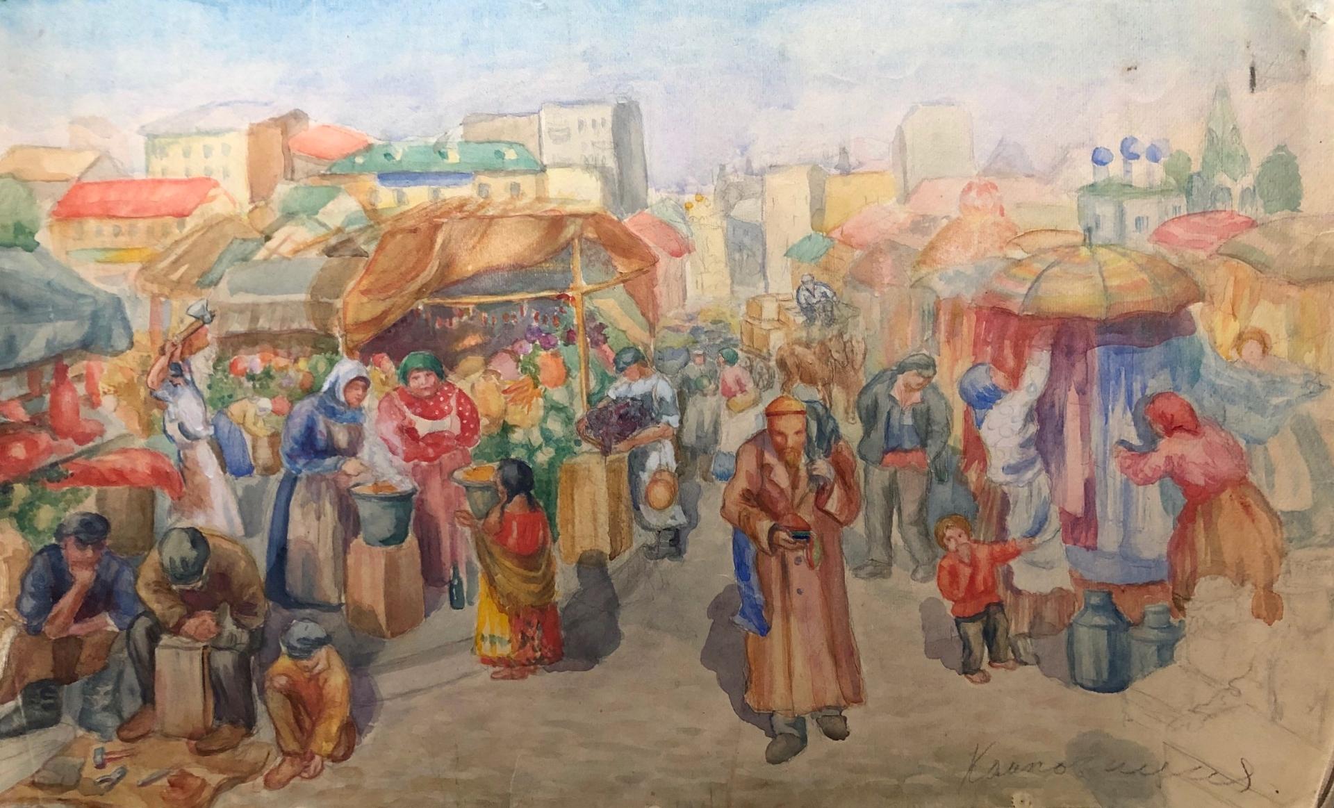 Яновская Ольга Дмитриевна. На базаре