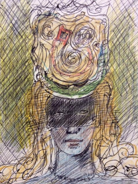 Лабас Александр Аркадьевич. Женщина в шляпе с вуалью