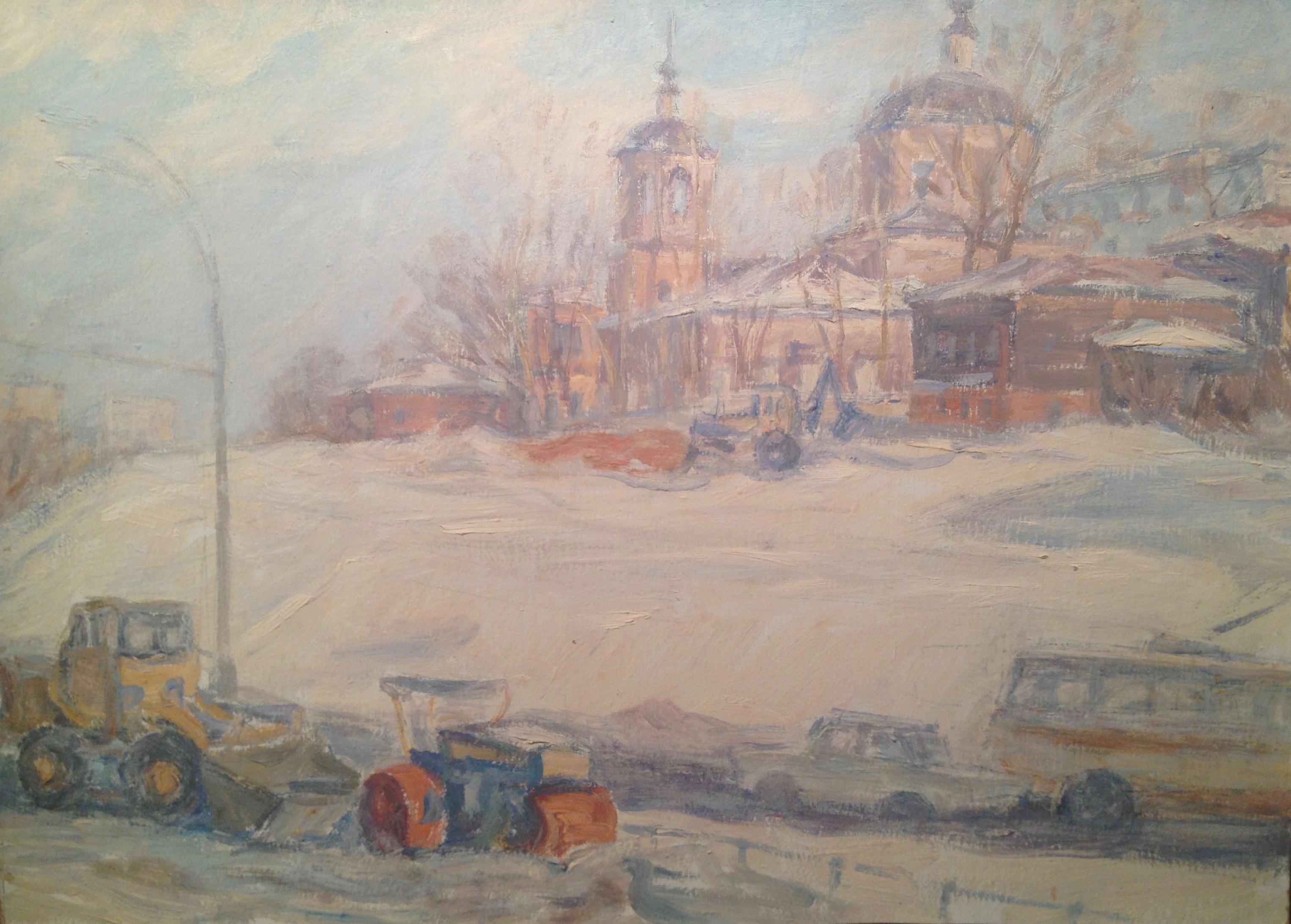 Дехтерева Татьяна Александровна. Уборка снега на Яузе.
