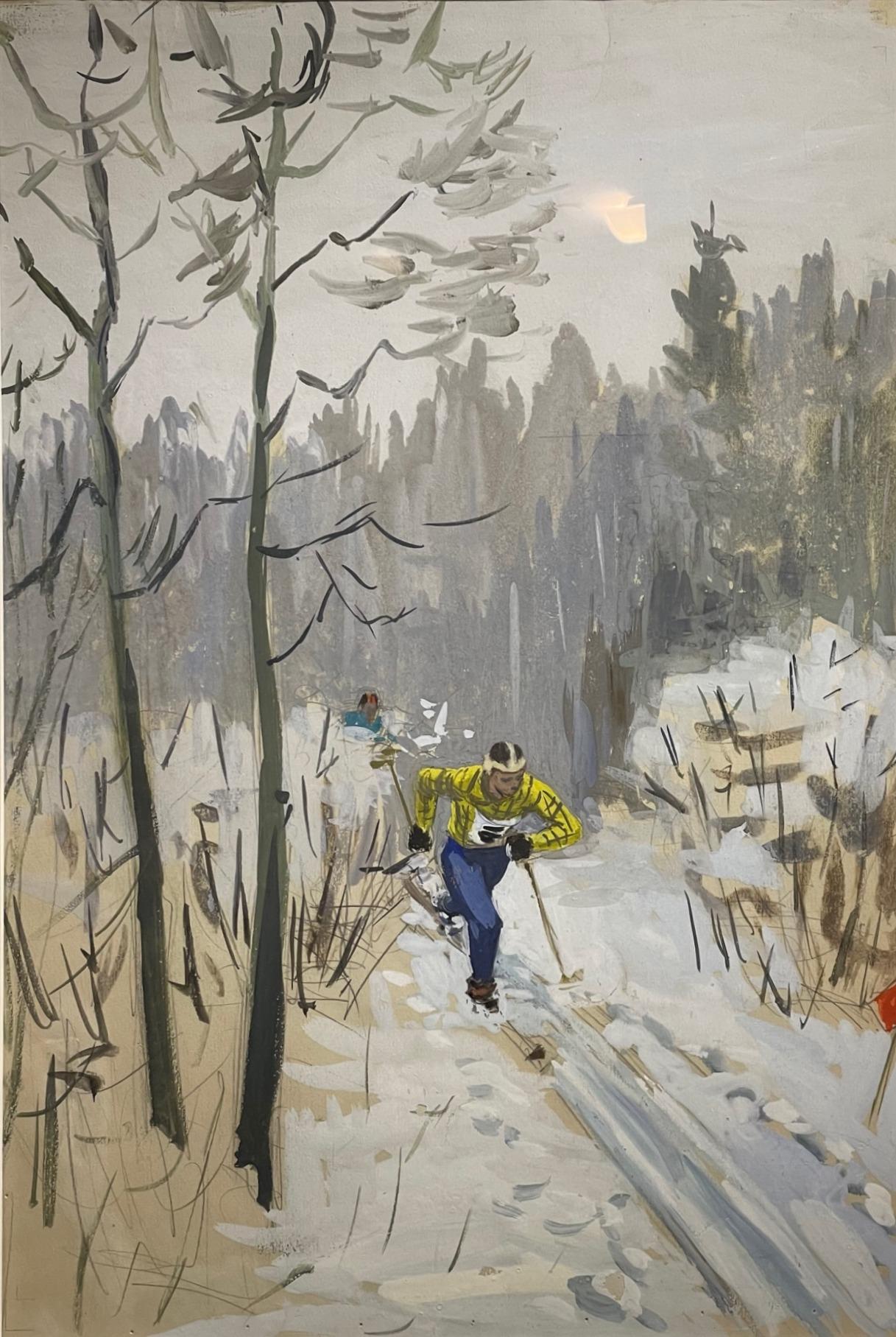 Витинг Николай Иосифович. На лыжне.