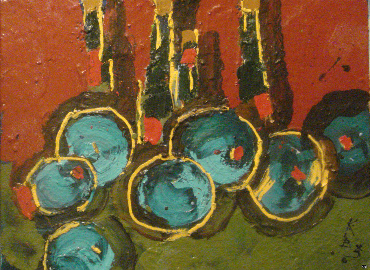 Казарин Виктор Семенович. Натюрморт с яблоками.