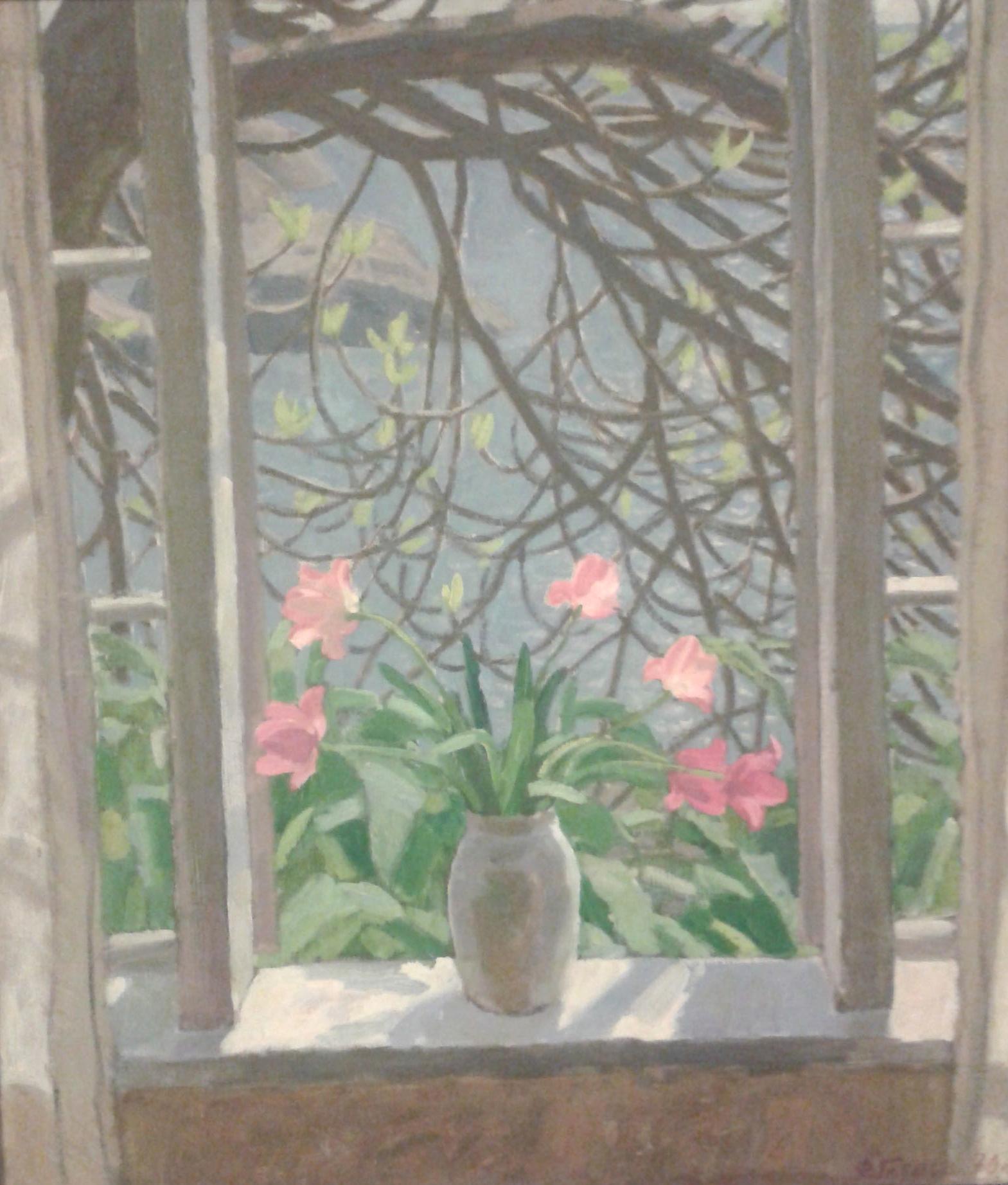 Глебов Федор Петрович. Тюльпаны на окне.