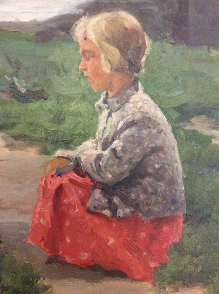 Суздальцев Михаил Аркадьевич. Портрет дочери в Муромской слободе