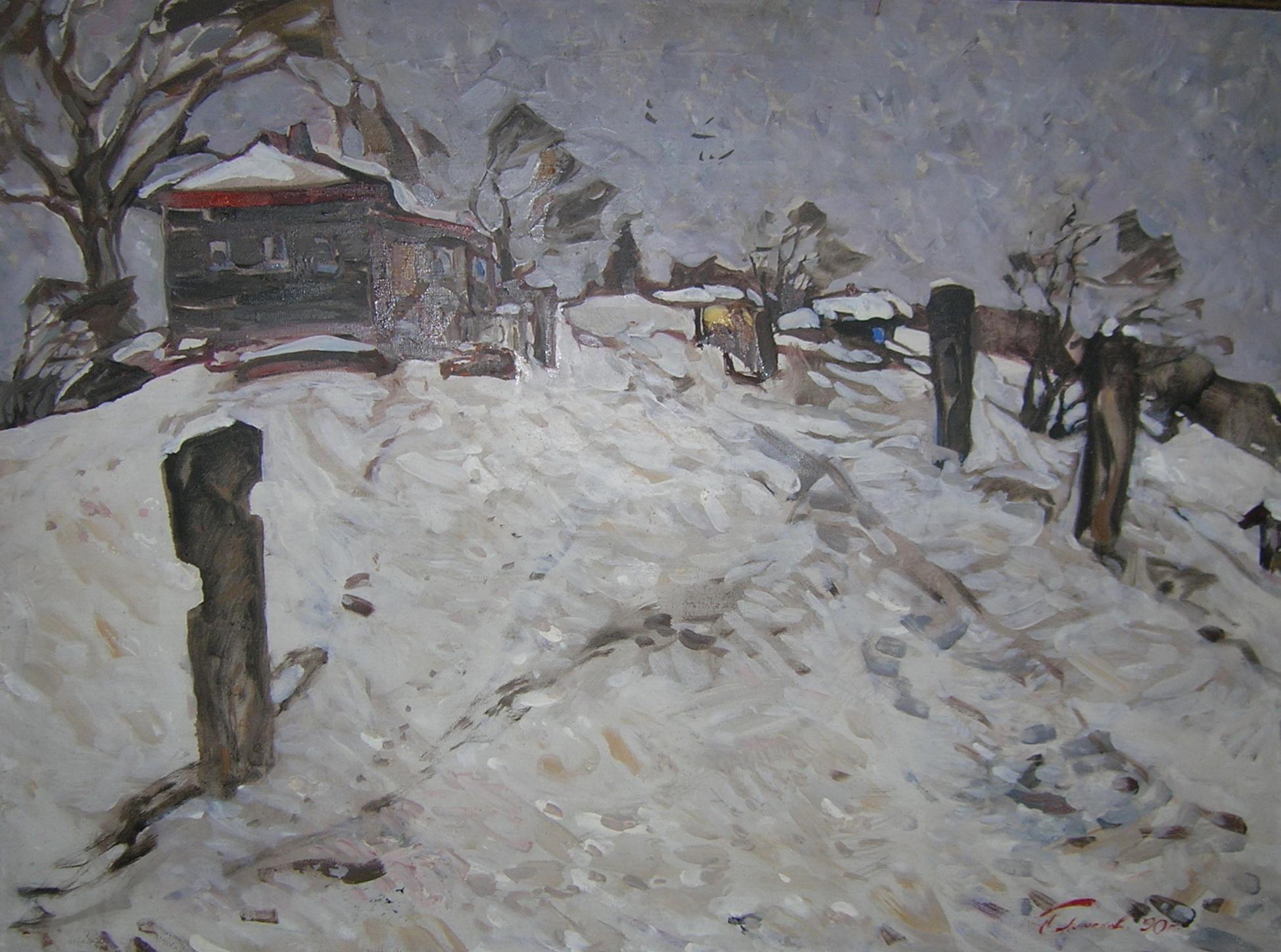 Пименов Николай Николаевич. Выпал снег.