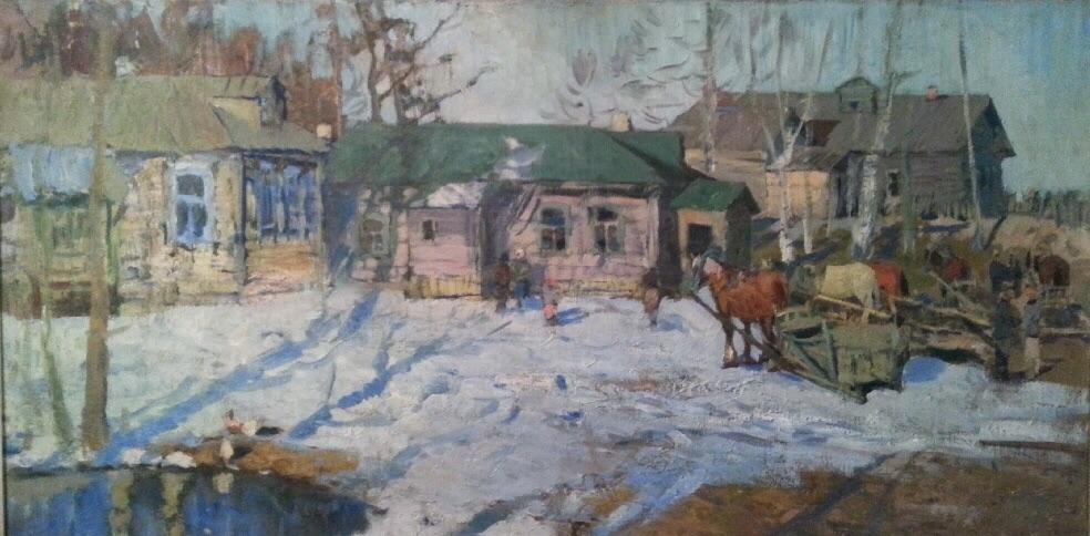Агеев Михаил Сергеевич. Март в деревне