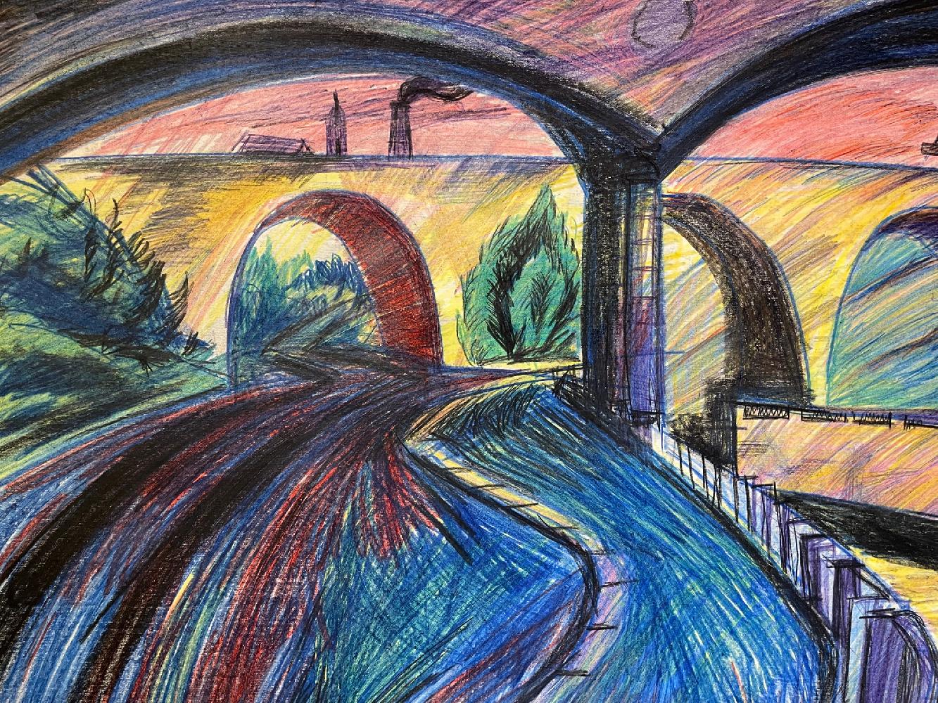Джемаль Джаид Шамиль Оглы. Костомаровский мост.Москва