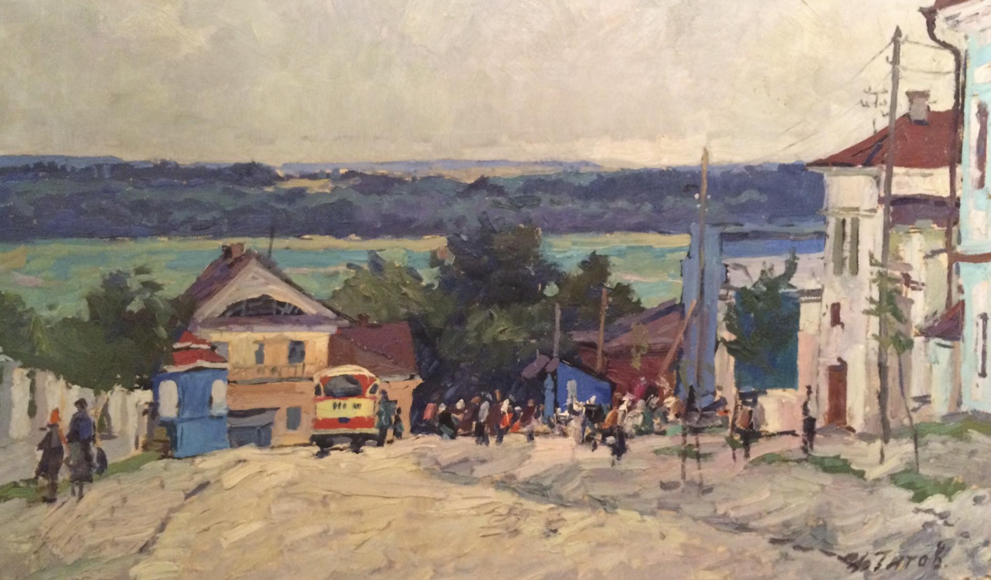 Титов Анатолий Михайлович. Улица в городе.